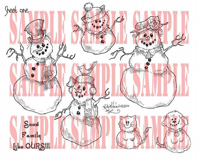 Snow Family SET ONE digi sheet