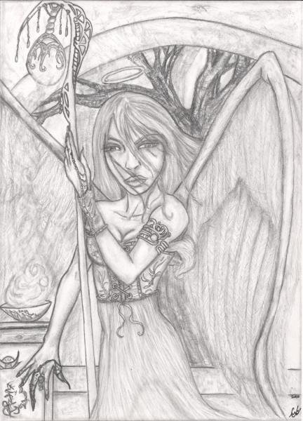 Obscura Illuminate, illustration, original pencils