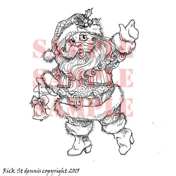 Cute Santa digi stamp
