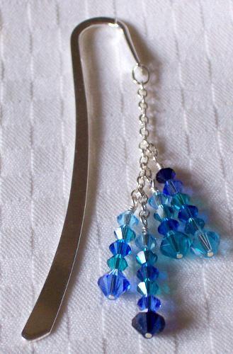 Ocean Waves - Swarovski Crystal Bookmark