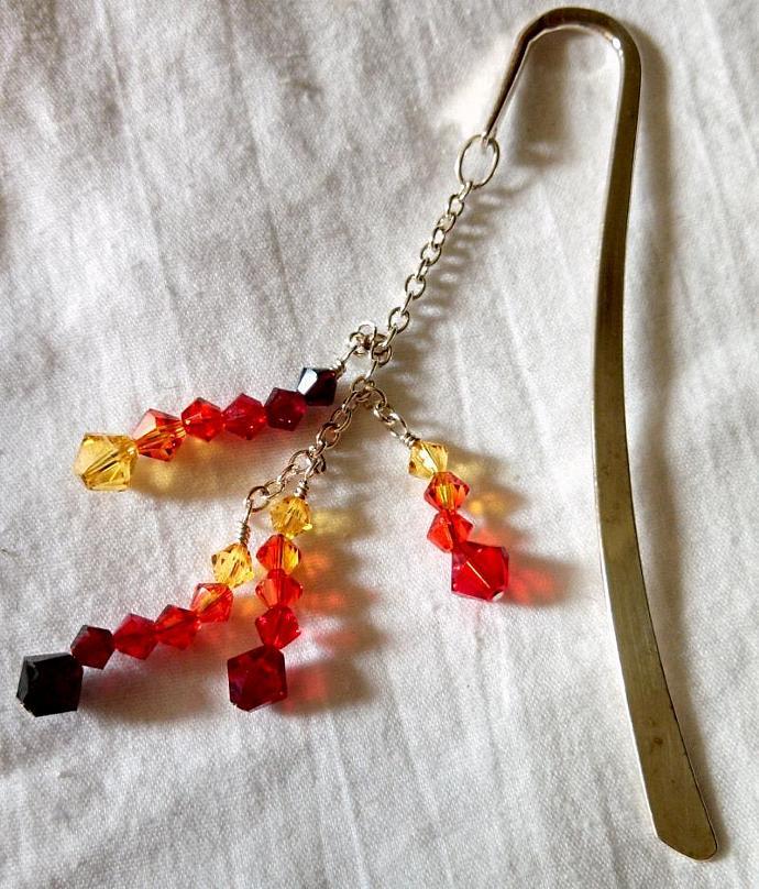 Flame - Swarovski Crystal Bookmark