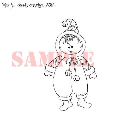 Snow Baby JESSIE digi stamp
