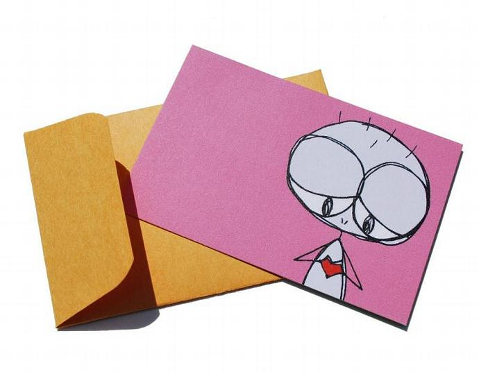 5 eef Mini Recycled Notecards and Envelopes