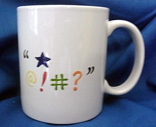 Personalized Ceramic Mug  CONFUSED Mug