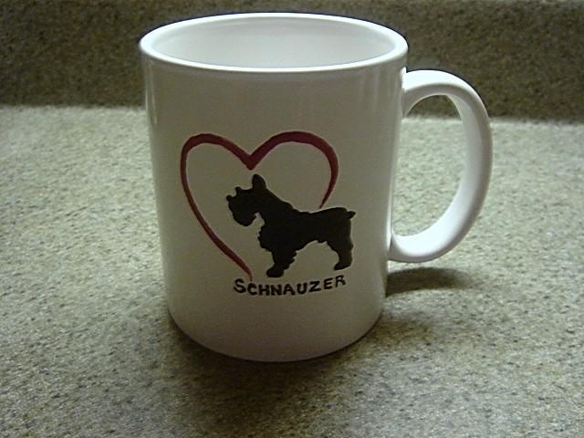 Personalized Ceramic Mug SCHNAUZER DOG
