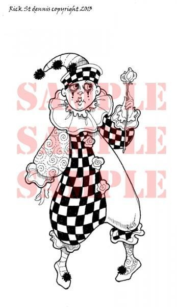 French Clown 2012 Digi Stamp
