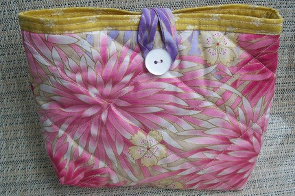 Quilted Cosmetic Case - Pink Floral