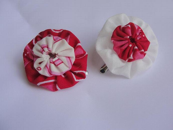 Mini Peppermint YoYo Hairclip Set