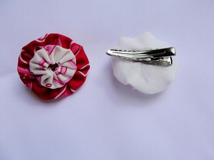 Mini Peppermint YoYo Hairclip Set