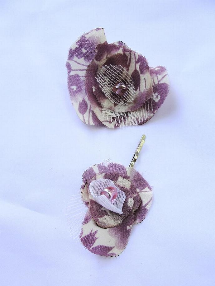 Lavender Pin and Hairclip Set