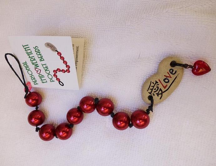 Red Glass PEP Beads (#G13001)