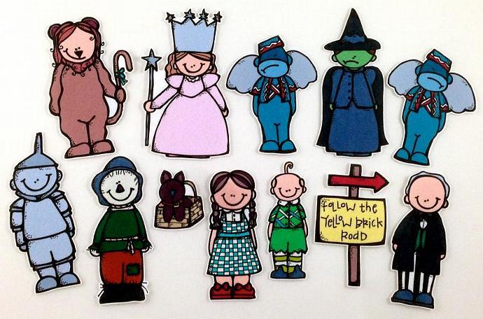 Wizard Of Oz Felt Board Story Set By Bymaree On Zibbet