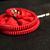 Red Zipper Flower Hairpin