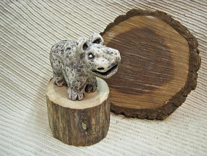 Unisex Gift : Clay Ocarina  Animal Flute / Sculpture / Whimsical Animal -  OOAK