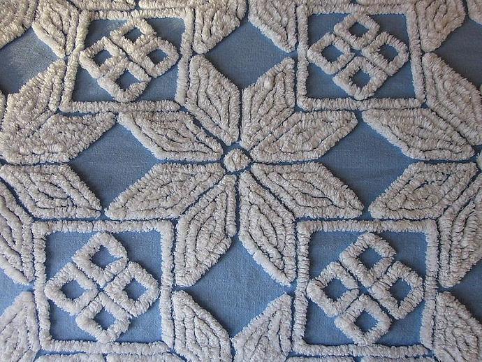 vintage chenille bedspread fabric hofmann - Chenille Bedspreads