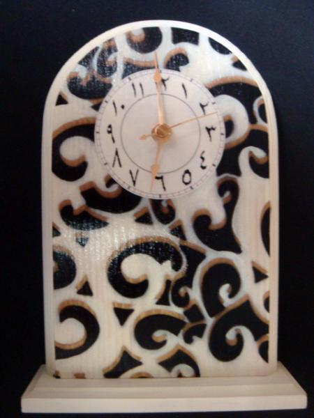 Standing Arabic Black & Gold Clock