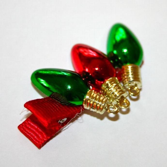 Christmas Light Bulb Hair Clip