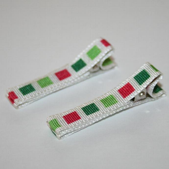 Christmas Square Hair Clips