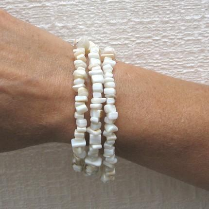 Mother of pearl multi strand bracelet