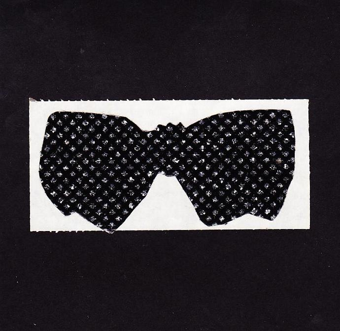 Big Black Bow Tie with Studded with Silver