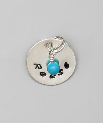 "Custom - 5/8"" Personalized Sterling Silver Pendant w/ charm"