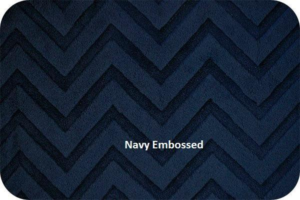 Minky Baby Blanket Chevron Blue Grey Navy Grey Minky Dot Back  Car Seat Stroller