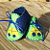 Cars Blue Green Yellow Handstitched Infant Booties