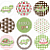 M2MG Tulip Garden Digital Collage 1 inch Circles