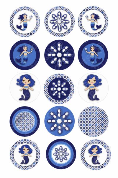 M2MG Santorini Sweetie Digital Collage Circles