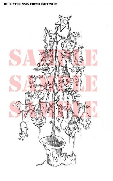 Creepmas Tree digi stamp