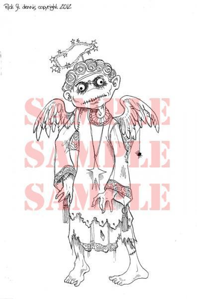Carnivorous Angel BUTCH digi stamp