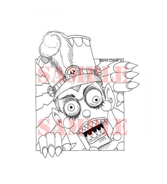 Creepmas Toy Soldier digi stamp