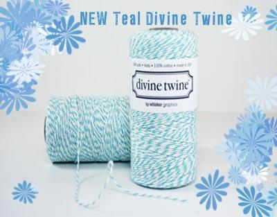 SALE- Shipping 1.99-NEW- Teal Divine twine-Shipping -50 yards-bakers twine-