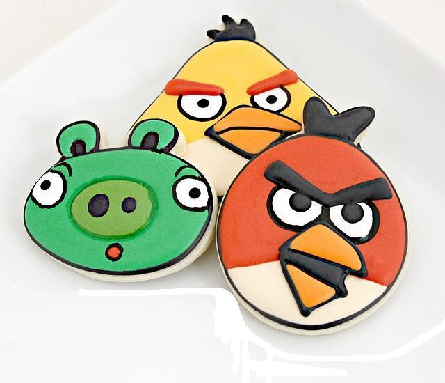 Angry Birds Cookie Cutter Plungers - Set of 4