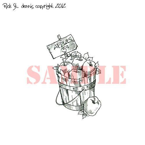 Apples 5 cents digi stamp