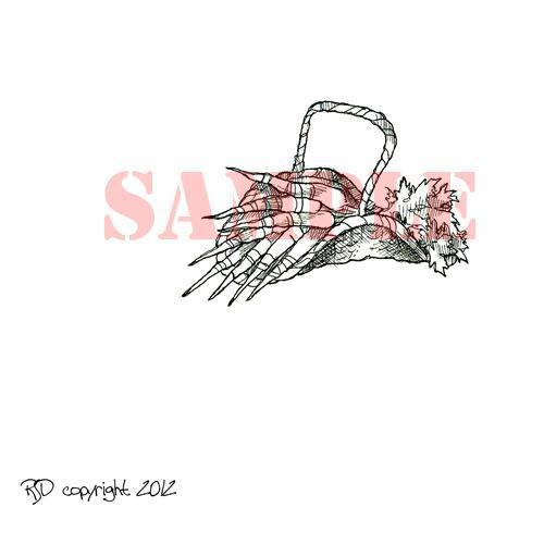 Basket of Carrots digi stamp