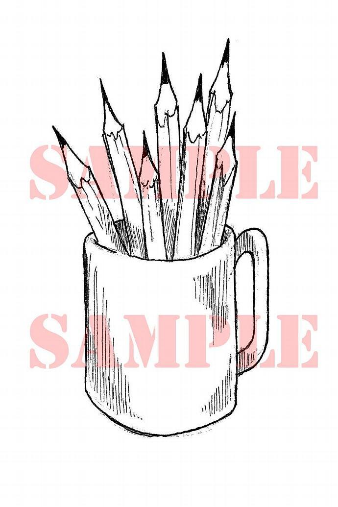 Pencil cup digi stamp