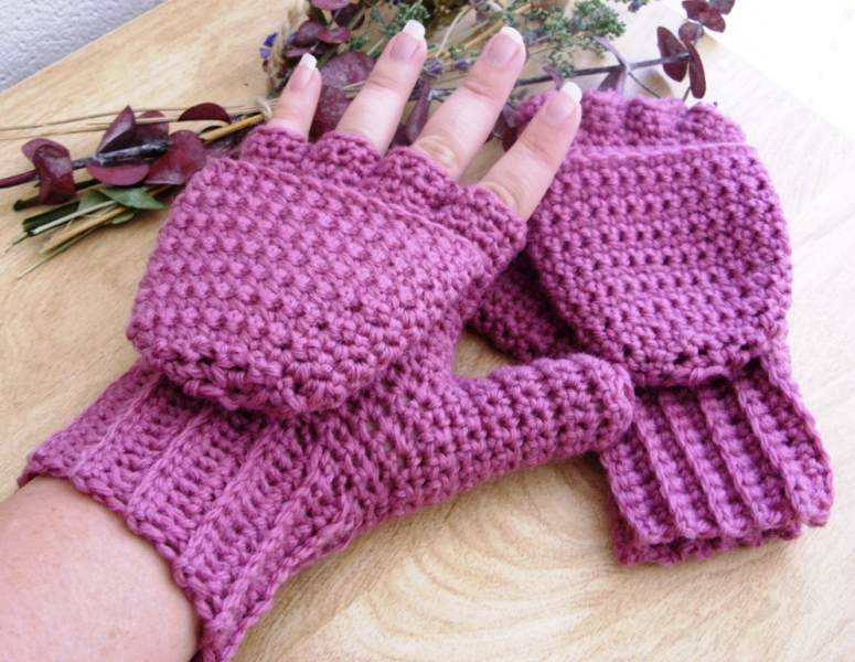 Free Crochet Pattern For Fingerless Mittens With Flap Dancox For