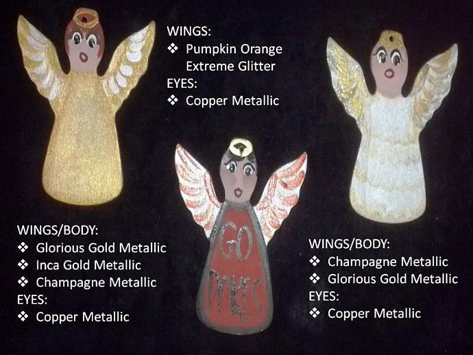 Custom Handpainted Wooden Angel Ornament