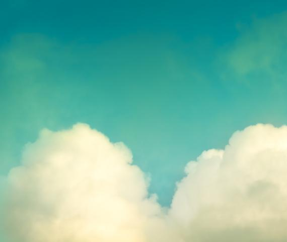 Heart Cloud Photography - 8x10 Love Print - Teal Aqua Blue Turquoise Photograph