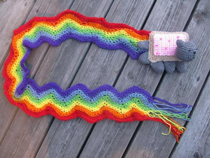 Nyan Cat Scarf Handmade