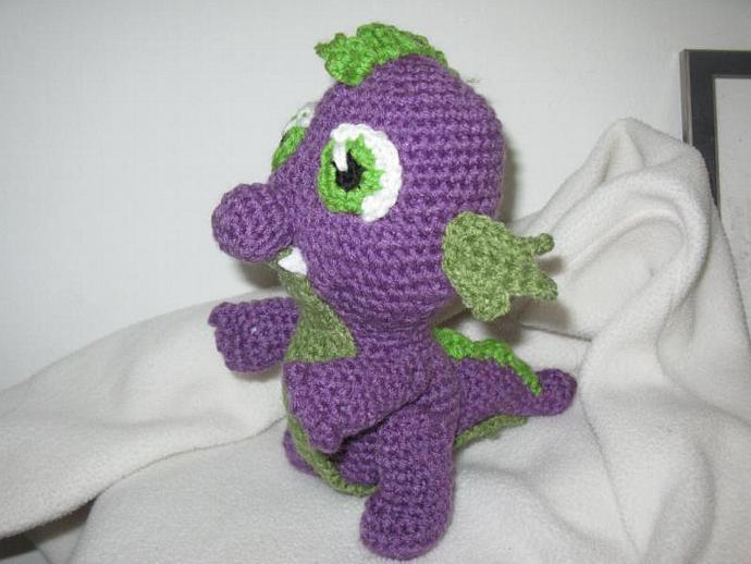 Spike the Dragon amigurumi plush