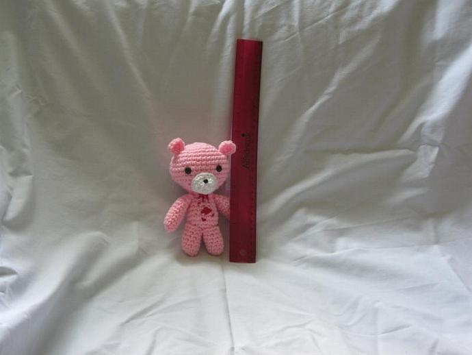Chibi Gloomy Bear amigurumi plush keychain phone strap keitai strap (light pink)