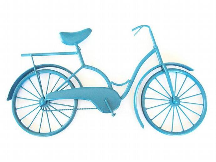 Metal Bicycle Wall Decor retro metal bike art/bike wallcottagechicmarket on zibbet
