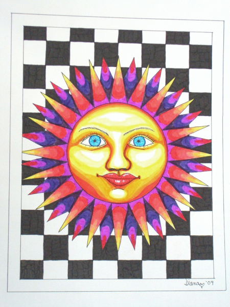 Spike Sun-signed print