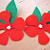 Red Flower Hair Clips