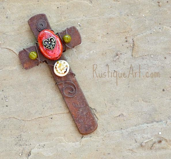 Handcrafted Tuscan Mission/Craftsman Style Cross