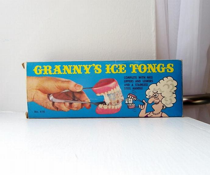 Vintage Granny's Ice Tongs in Original Box, Japan
