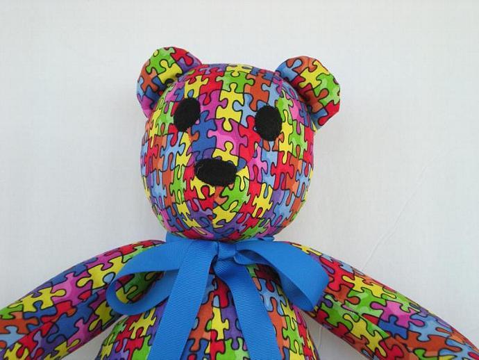 Autism Awareness Puzzle Bear