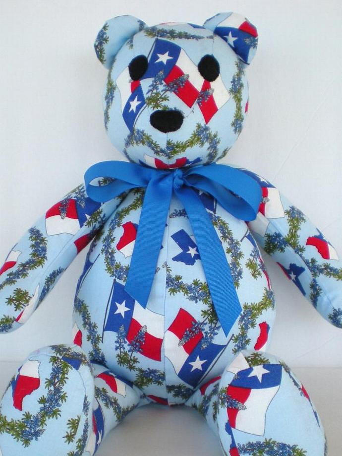 Texas Flag & Bluebonnets Teddy Bear